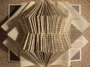 For Sale @ Fresh from the Coast, Transforming-plain-speaking-recycled-book-sculpture-11-x-9-5-inches-janice-rafael.