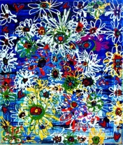 Daisy Bell - 23.5x27.5 inches - Acrylic and Marker - 2015 - Janice Rafael