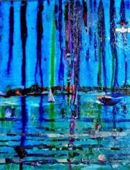 Explore Acrylic and Mixed Media 14x18 inches 2015 Janice Rafael