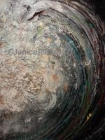 Golden Spiral Wave acrylic latex mixed media 49 x 61 inches ©Janice Rafael