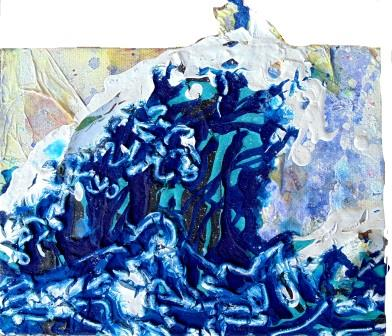 Japanese Wave 8.25x7 inches Acrylic on Canvas 2015 ©Janice Rafael