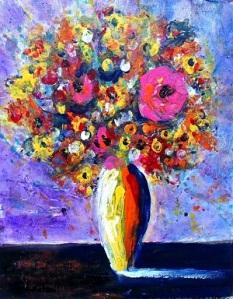 Pink Sol 11x14 Acrylic on canvas 2015 Janice Rafael