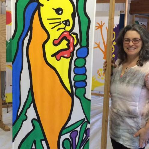 June 23 2016 Town of Gibsons Banner Project 2016-Dec 2017 Otter Janice Rafael Art