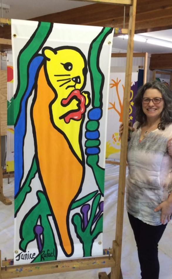 June 23 2016 Town of Gibsons Banner Project 2016-Dec 2017 Otter Janice Rafael Art